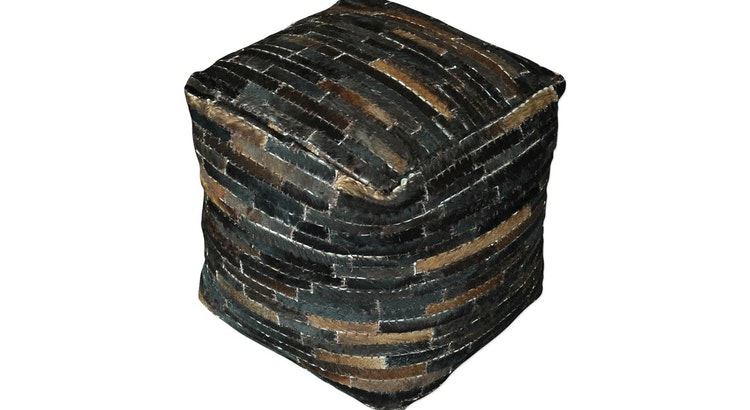 The Tiago Dark Brown Pouf Is A Must Have!