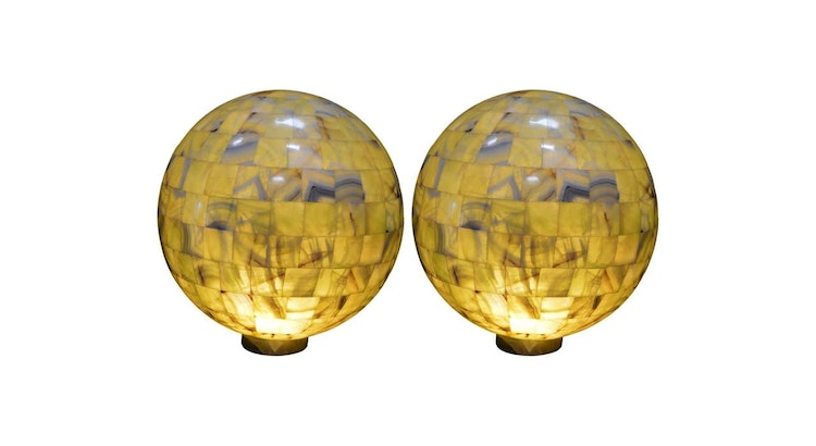 Our Pick Of The Week: A Pair of Green Onyx Globe Lights!