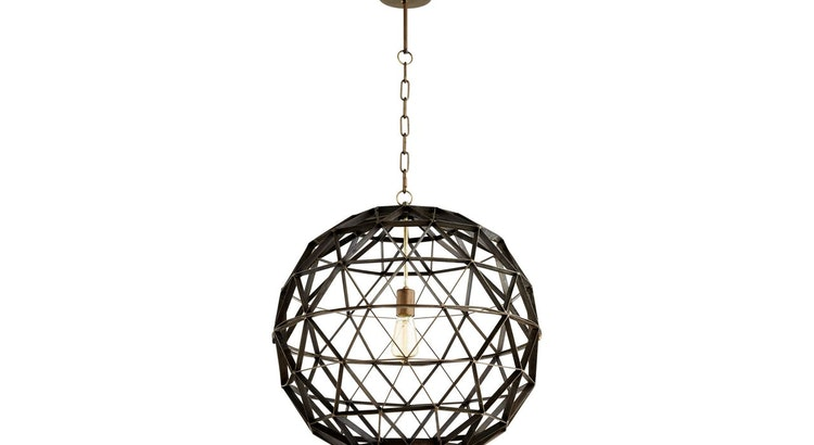 Prepare To Be Mesmerized With The Barton Industrial Noir Black Pendant!