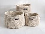 Handmade Cotton Rope Basket (Small)
