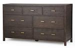 Candice 7-Drawer Dresser - Dark Brown