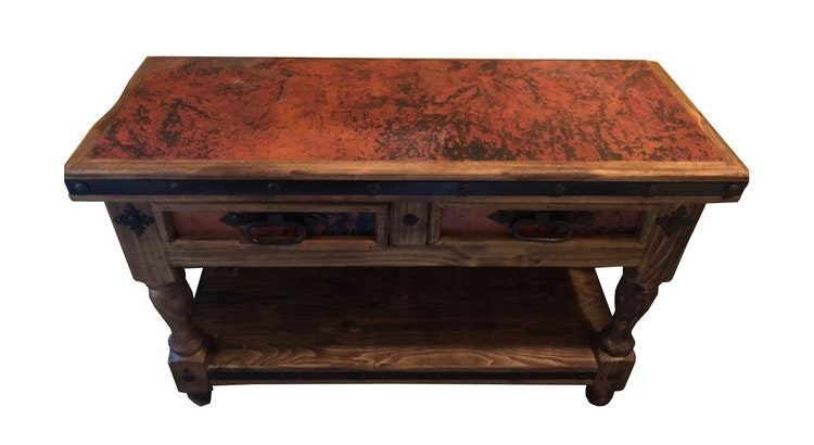 Don't Miss Out On The Copper Console Table!