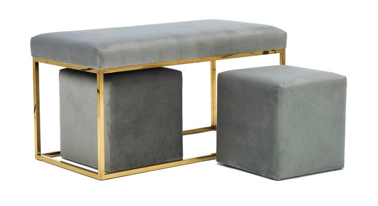 Add A Touch Of Glam To Your Space With The Lila Bench Set!
