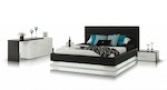 Modrest Infinity - Contemporary Platform Bed with Lights (Eastern King)