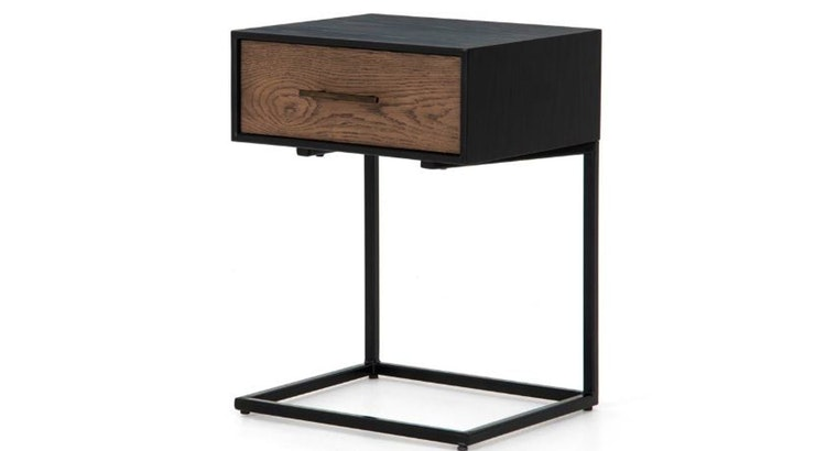 Score Storage Space And Functionality With The August C Shaped Nightstand!