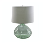Green Glass Table Lamp