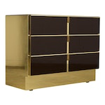 The Modern Mirrored & Brass Chest of Drawers