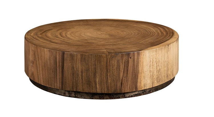 Say Hello To Our Cylinder Wood Coffee Table!