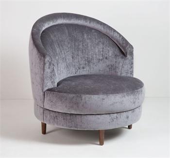Capri swivel lounge chair grey we r home boutique furniture