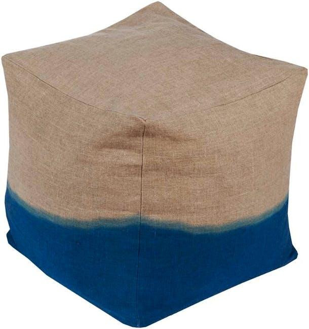 Photo of Surya Dip Dyed Pouf in Dark Blue
