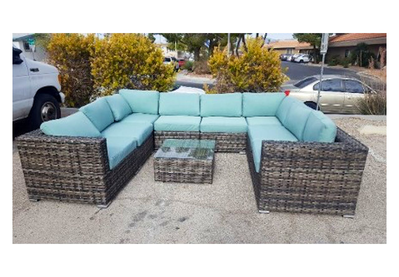Outdoor U Sectional 9pc Seating Set