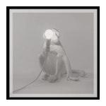 White Sitting Monkey Lamp