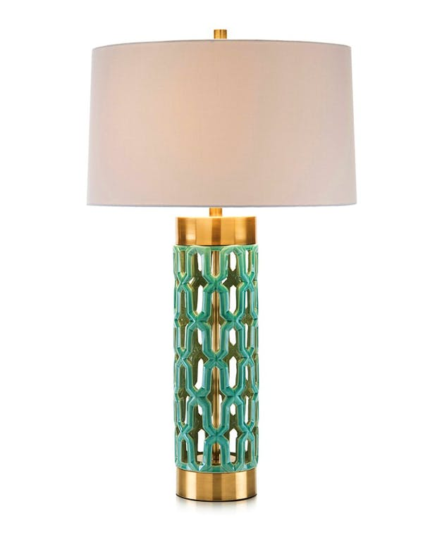 Photo of Turquoise Ceramic Table Lamp