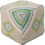 The Bright Colored Kilim Pouf