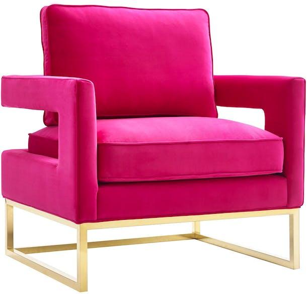 Photo of Avery Pink Velvet Chair