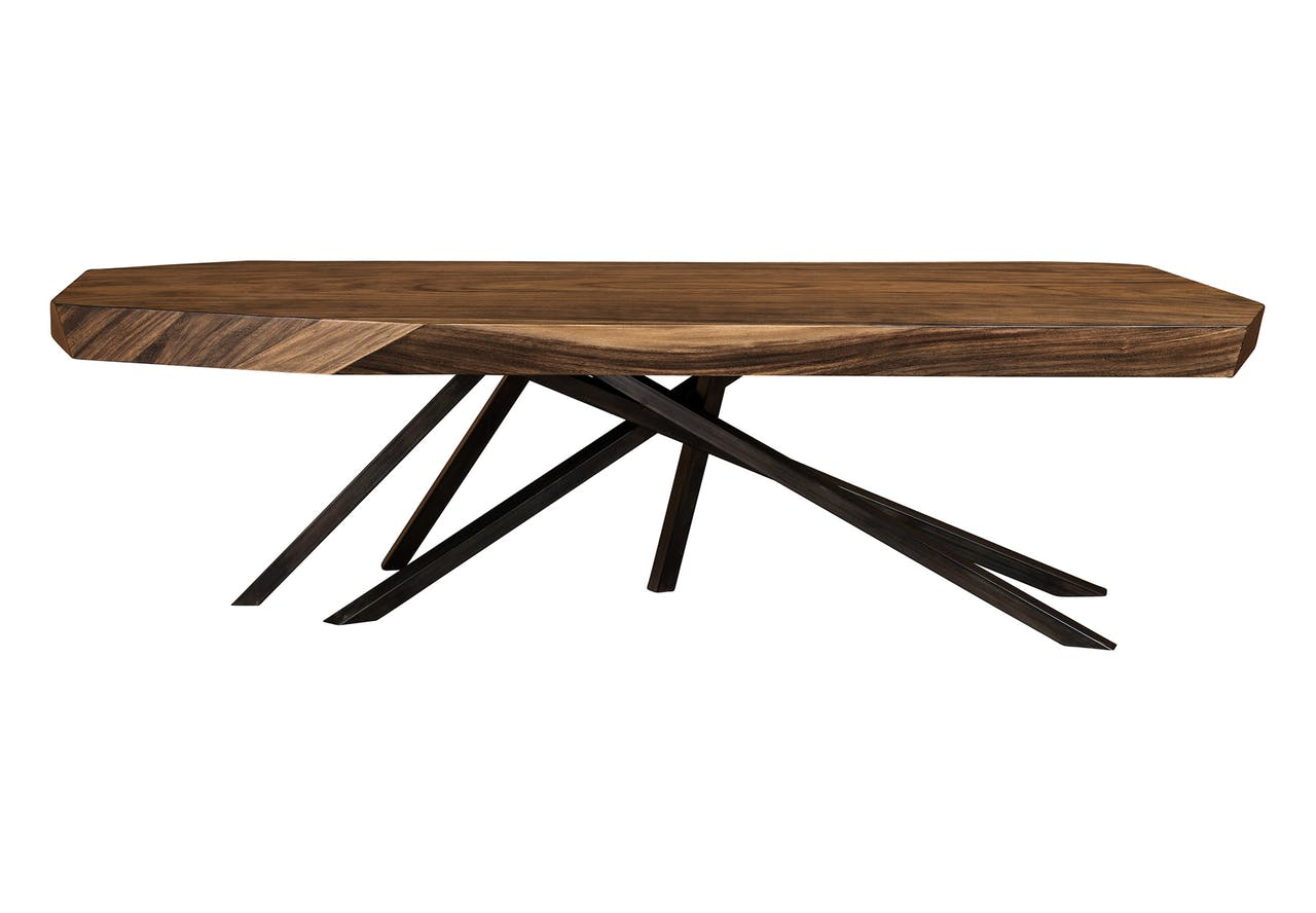 The Faceted Wood Rectangular Dining Table