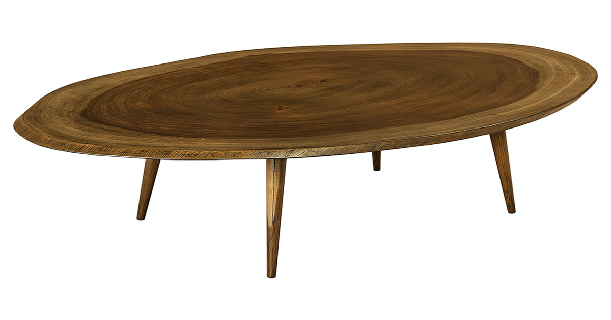 Oval Coffee Table With Danish Legs Artistic Habitat Design Kollective