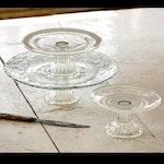 Glass Cake Plates (Set of 3)