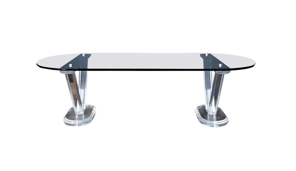 The Lucite And Glass Coffee Table Pegaso Gallery Design Boutique