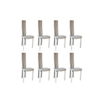Set of Eight Cattelan Italia Carre VI Dining Chairs