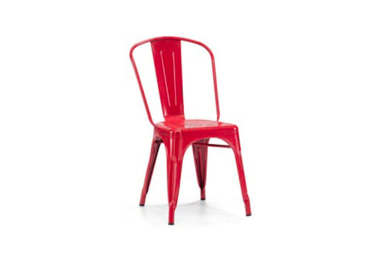 Fabulous Modern Red Metal Side Chair Beatyapartments Chair Design Images Beatyapartmentscom