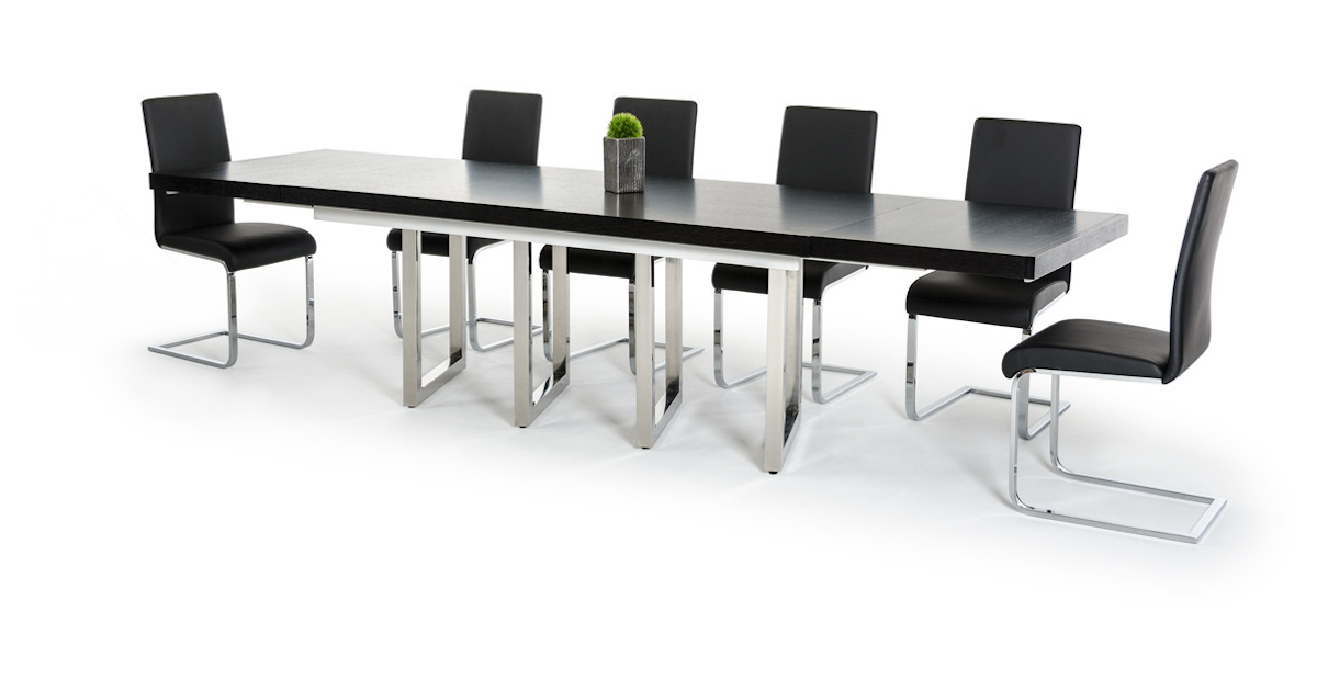 Modern Black Extendable Dining Table Boho Furniture Gallery
