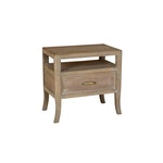 Francesca 1 Drawer Nightstand Vintage Taupe