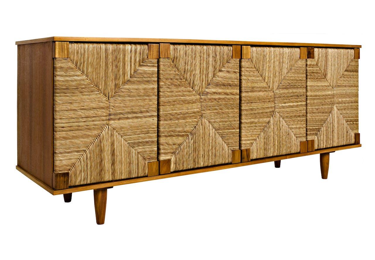 The Brook 4 Door Sideboard, Teak | Maison Luxe | Boutique