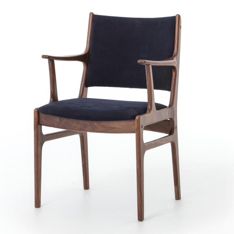 The Beecher Arm Chair In Navy
