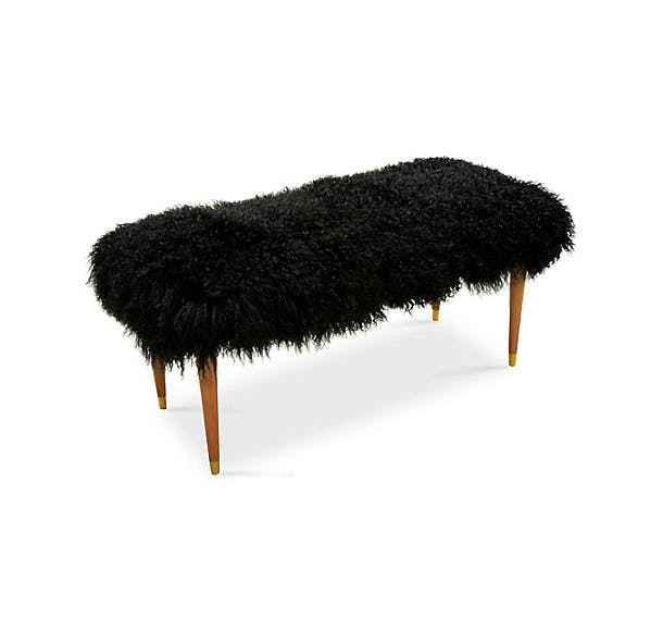 Photo of Curly Lamb Bench, Black