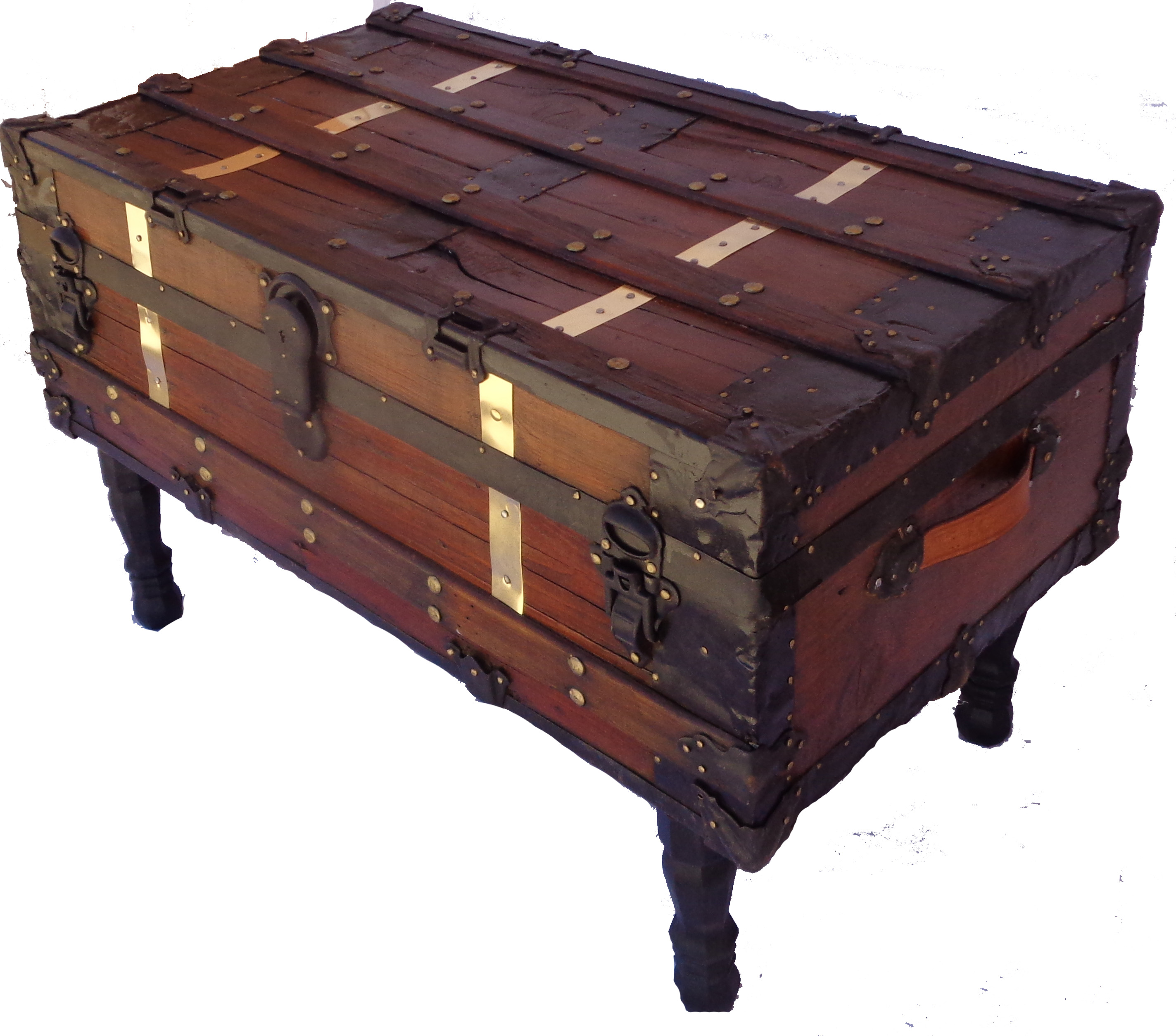 Antique Steamer Trunk Coffee Table by Antique Trunk Restoration